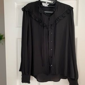 Leith Black Blouse